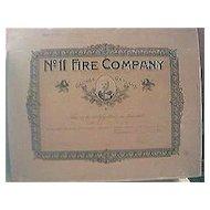 Large 1922 Chilean Fire Brigade Membership Certificate