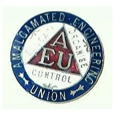 Vintage Amalgamated Engineers Union Badge