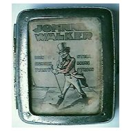 Vintage JOHNNIE WALKER Advertising Cigarette case