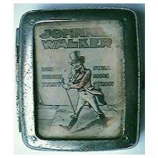 Vintage JOHNNIE WALKER Advertising Cigarette case