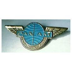Vintage PAN AM Airlines Junior Clipper Pilot Badge