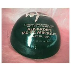 ALISARDA Airlines Advertising Paper Weight MD-82 Aircraft