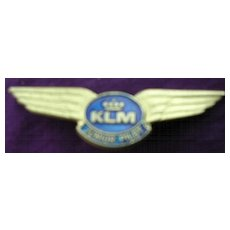 Vintage KLM Junior Pilot Metal Wings Badge