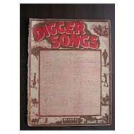 "Vintage Australian Sheet Music ""Diggers Songs"""