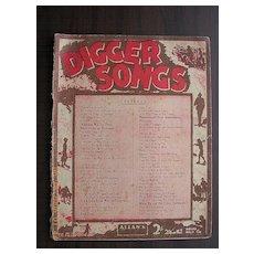 "Vintage Australian Sheet Music ""Diggers Songs"""