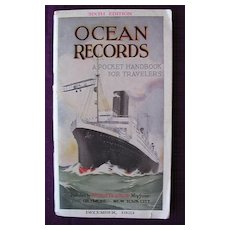 """Vintage Shipping Guide """"Ocean Records"""" 1923"""