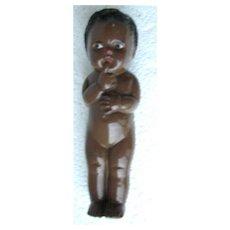 Small Plastic Wooley Headed Negro Doll