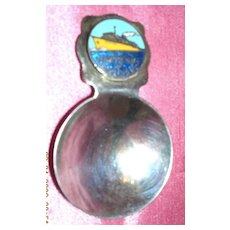 Vintage Shipping Souvenir EMPRESS of AUSTRALIA Tea Caddy Spoon