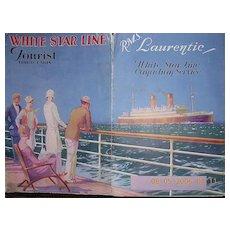 WHITE STAR Liner R.M.S LAURENTIC Vintage Advertising Pamphlet