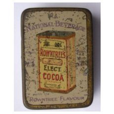 Vintage Rowntrees Cocoa Natural Beverage Sample Tin