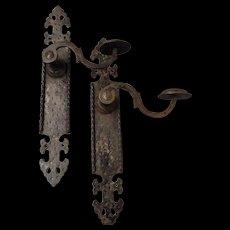 A pair of Victorian Door Handles