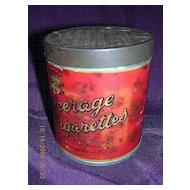 Rare Vintage PEERAGE Cigarettes Drum Tin
