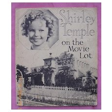 "Vintage 1934 Shirley Temple Book ""On the Movie Lot"""