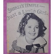 "Vintage 1934 Shirley Temple Book ""Just A Little Girl"""