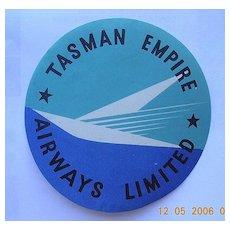 Rare TEAL AIRWAYS Vintage Baggage Sticker