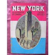 Vintage 1937 NEW YORK Illustrated Book