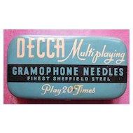 Vintage DECCA Gramophone Needles Tin