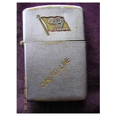 Vintage RMS CARONIA Cunard Line Advertising Cigarette Lighter
