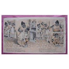 Rare Vintage Negro Racist ARM & HAMMER SODA Paper Tradecard
