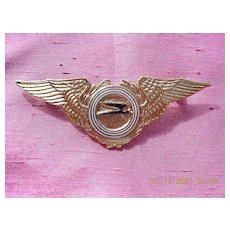Vintage Argintinas Aerolinas Pilot Wings Badge