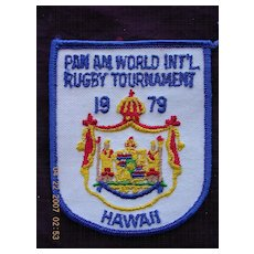 Two PAN AMERICAN AIRLINES 'World Rugby Tournament' Cloth Decals