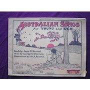 """Victorian Sheet Music """"Australian Songs For Young & Old"""""""