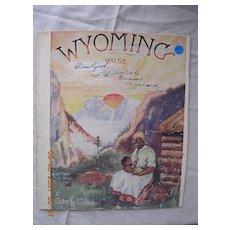 "Vintage Negro Sheet Music ""Wyoming Valse"" Dated 1940"