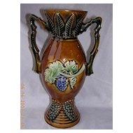 Stunning French Majolica Vase
