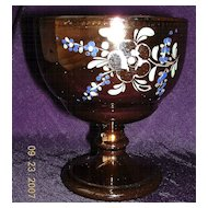 Victorian 'Copper Glass' Goblet