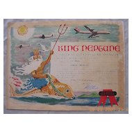 1963 QANTAS EMPIRE AIRWAYS 'King Neptune Equator Crossing Certificate'