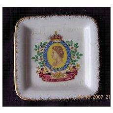 Staffordshire Porcelain Queen Elizabeth Coronation Pin Dish