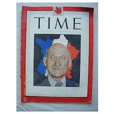 """Vintage Time Magazine March 1st 1947 """"France's Premier Schuman"""""""