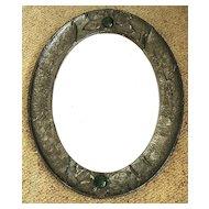 Victorian Arts & Crafts Pewter Mirror Circa 1890 - 1900