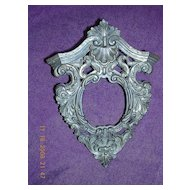 Victorian Miniature Ornate Bronze Picture Frame