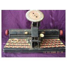 Vintage Toy 'MARX' Mr Dial Tin Typewriter Circa 1930
