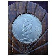 Vintage COOK ISLANDS 16th Forum Mounted Souvenir Dollar