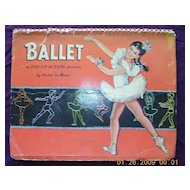 Vintage 1953 BALLET Pop-Up Book