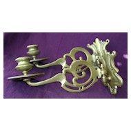 Victorian Pair Of Art Nouveau Brass Candle Sconces