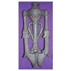 Victorian Gothic Cast Steel  KENRICK & SONS Door Knocker