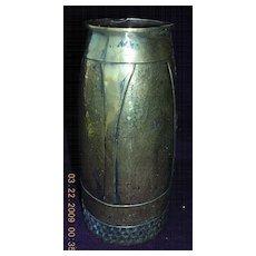 A Victorian Brass Art Nouveau Vase