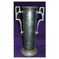 Victorian Art Nouveau Brass Vase