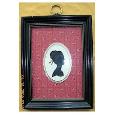 A Pair Of Victorian Silhouettes