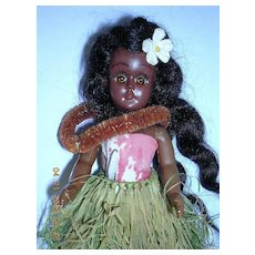 Vintage 1960's ELSIE DENNEY Boxed Hawaiian Doll