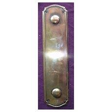 Rare Georgian Period Bronze Door Push Plate