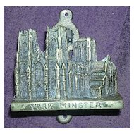 Edwardian Period Souvenir Door Knocker 'YORK MINSTER""
