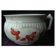 "Victorian Stoke on Trent Porcelain Chamber Pot Or ""Potty"""