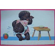 "Vintage Picaninny Postcard ""Ah Tries To Be Puhlite An' Nice"""