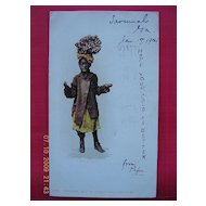 "1904 Negro Postcard ""Just As Easy"""
