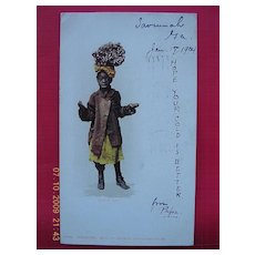 """1904 Negro Postcard """"Just As Easy"""""""