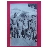 "Old B.S. Brand English Photo - Print Postcard  ""Australian Aborigines"""
